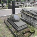 Донской монастырь вчера днём.  Шесть надгробий масонов конца 18-19 вв. в виде обрубленных деревьев или пней.